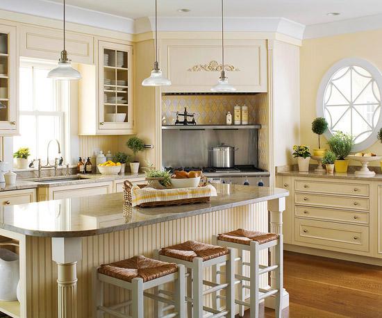 Sắc màu dịu nhẹ đã khiến căn bếp thêm đẹp.