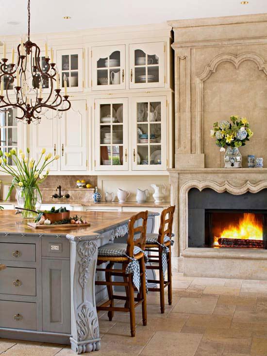 Kết hợp với các vật trang trí căn bếp càng trở nên ấm cúng.
