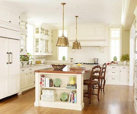 Căn bếp nhỏ mà vô cùng thoáng sạch nhờ sắc trắng.