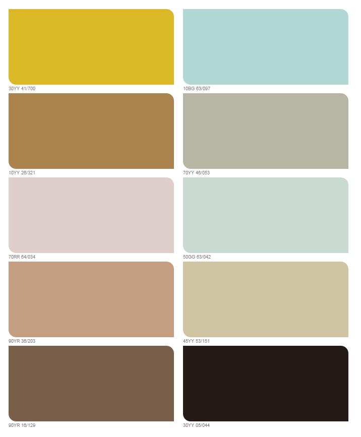 bảng mã màu của năm 2016